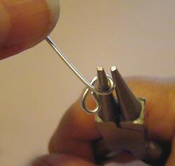csigás nyaklánc drótékszerből