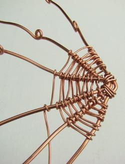 pókháló drótékszerkészítés