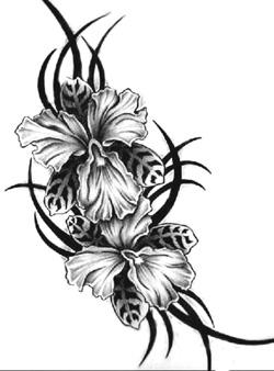 orchideás váza
