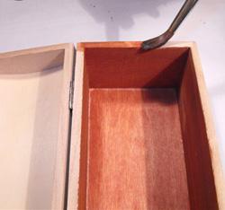 pirogravírozott bortartó doboz készítése