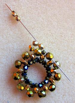 nadia medál készítése gyöngyfűzés