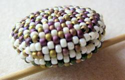 lencsés peyote nyaklánc gyöngyfűzés elkészítése
