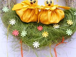 húsvét váró ajtódísz