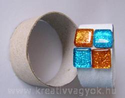 mozaik szalvétagyűrű