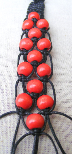 ribizli makramé karkötő készítés