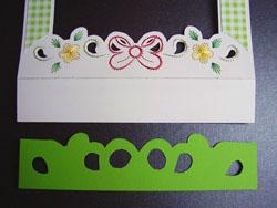 húsvéti képeslap készítése fonalgrafikával