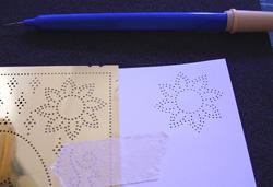 képeslap készítése ornane technikával