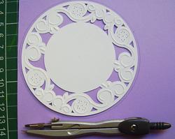 virágos képeslap embossing technikával