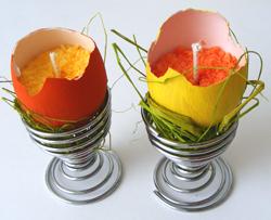 húsvét tojás gyertya
