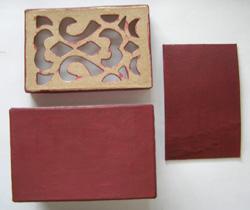 doboz készítése áttört mintával mozaik