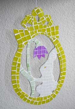 húsvéti ajtódísz mozaikból