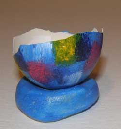 húsvéti tojás mécses mozaikból