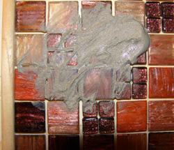 csillámos díszdoboz mozaikból