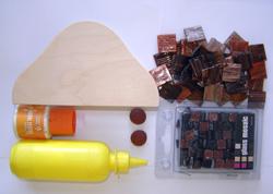 mozaik szalvétatartó készítése