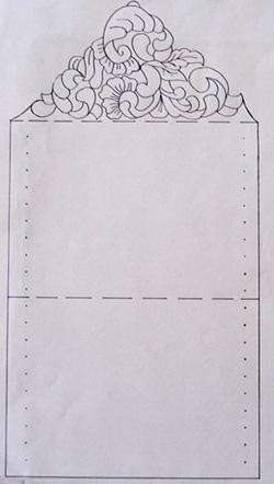 pergamen boríték nászajándékhoz