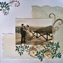esküvői emlék scrapbook