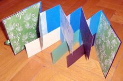 scrapbook flag book készítés