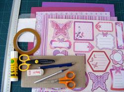 pillangós tasak készítése scrapbook