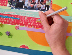 scrapbook képeslap készítés