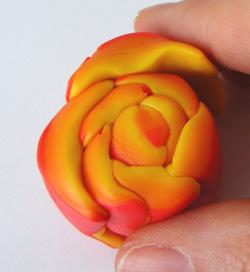 millefiori süthető gyurma készítés rózsa