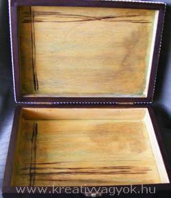 feltépett decoupage doboz 4