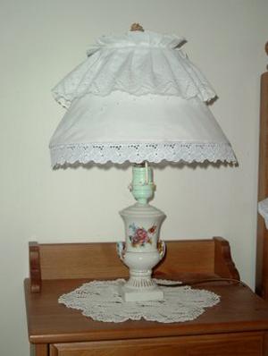 porcelán lámpa felújítása