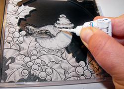 cd tok készítése üvegfestéssel