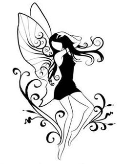 üvegfestés pillangó lány tündér