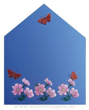 Tükör virágokkal és pillangókal
