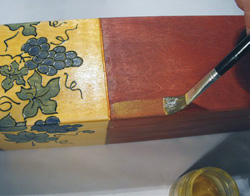 üvegfestett boroskészlet